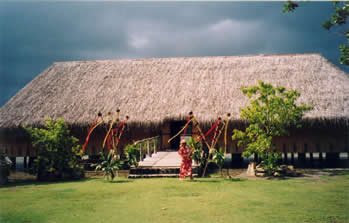 Fare Pote'e, the Meeting House, Maeva, Huahine.