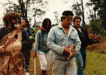 Sam Ka'ai, Jake Swamp, Mili & Alapai Hanapi, and John Stokes