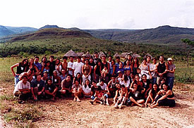 Tracking in Brazil—a group shot at Macaco, La Chapada dos Veiadeiros.